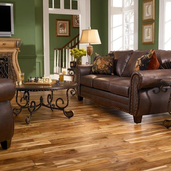 Tobacco Road Acacia Solid Hardwood Flooring in Living Room